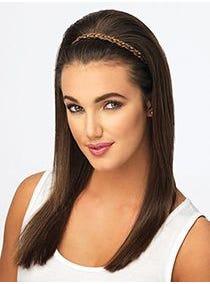Double Braid Headband Synthetic Hairpiece