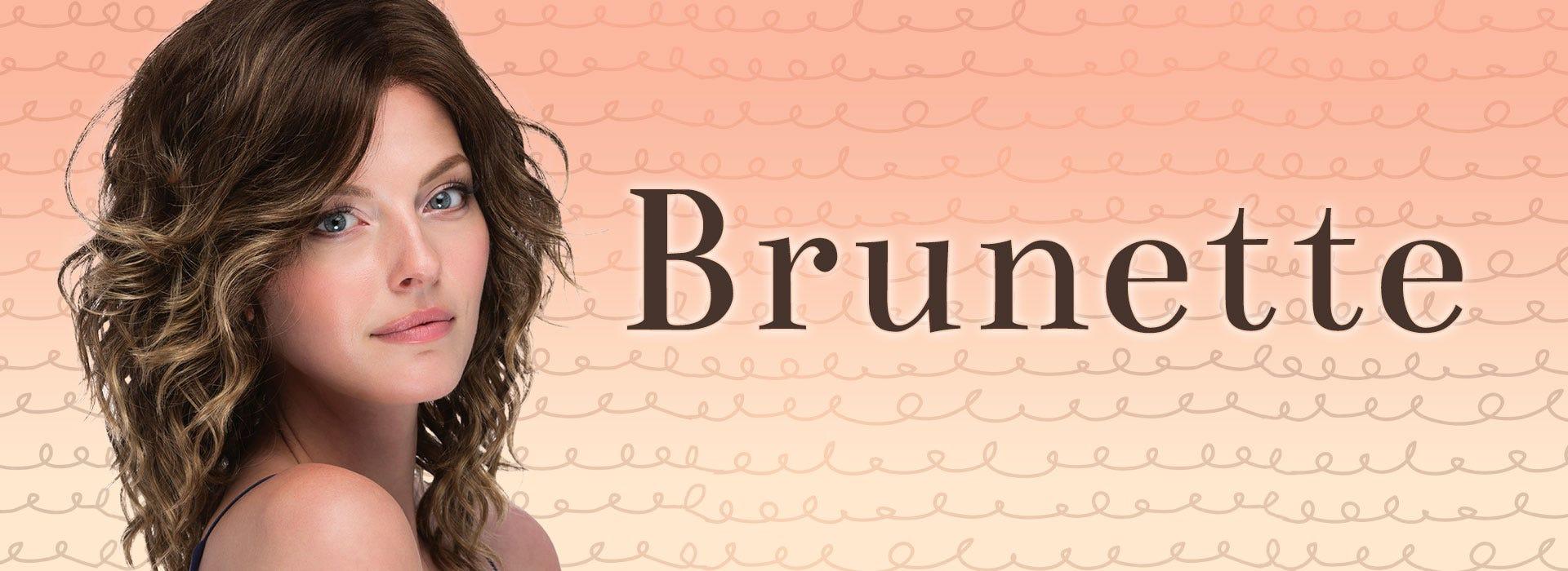 Brunette Wigs - Style Shown: Finn Lace Front Wig by Estetica in TOFFEE-LATTE