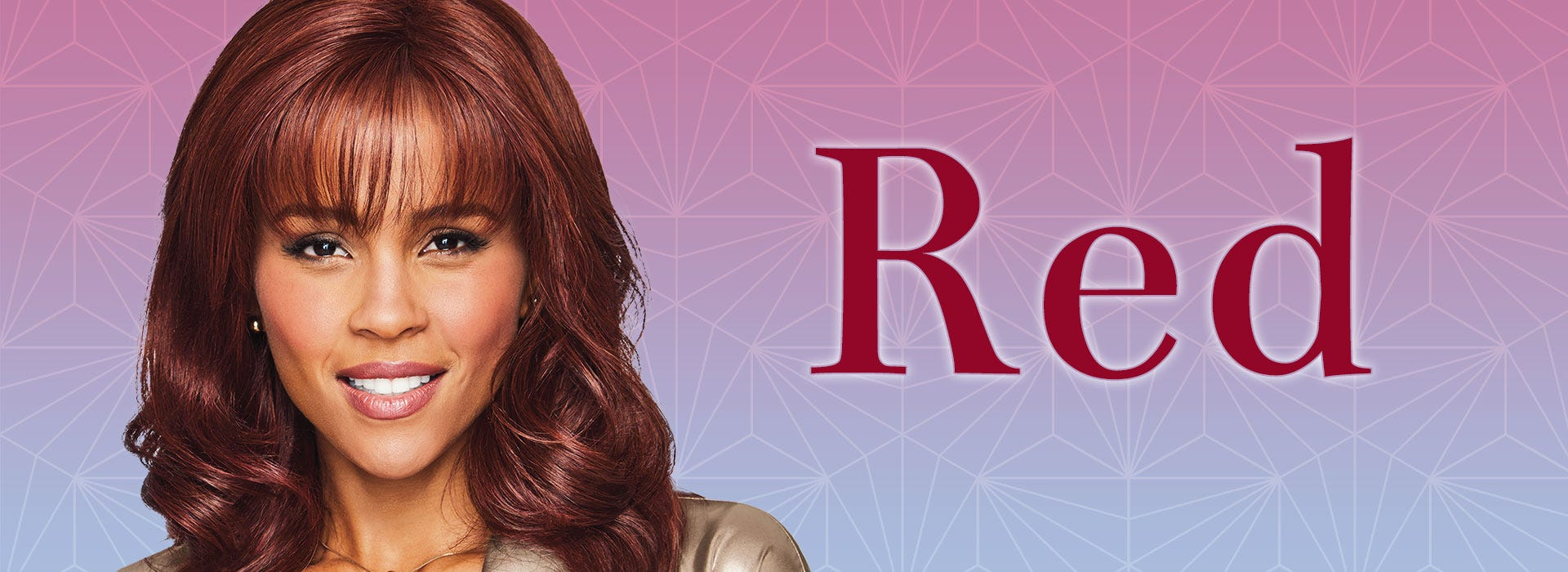 Red Wigs - Style Shown: Curve Appeal Lace Front Wig by Raquel Welch in RL33-35 (Deepest Ruby)